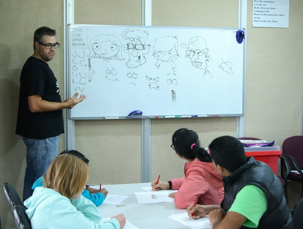 Jason Cartoon Workshops City of Belmont Library_LLN blog