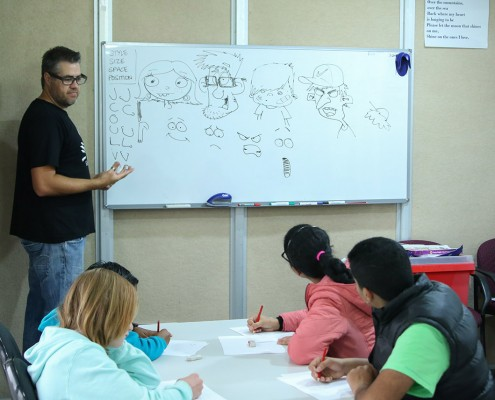 Jason Cartoon Workshops City of Belmont Library_LLN blog