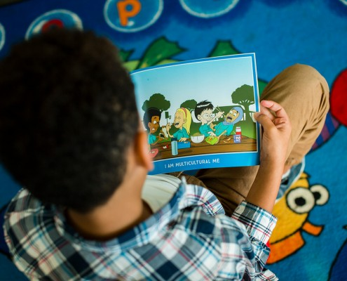 Boy Reading Multicultural Me Book